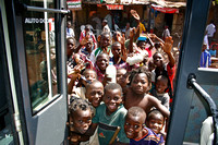 Children in Mali say goodbye